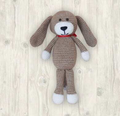 Crochet Brown Puppy Amigurumi Pattern, Crochet Dog Pattern, Easy Crochet Dog Pattern, Easy Crochet Puppy Pattern