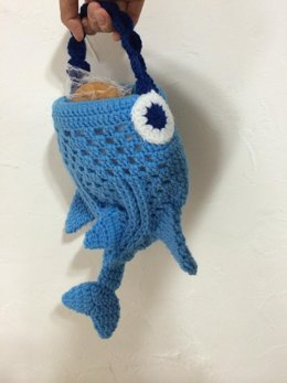 Whale Shark mini Tote Bag Crochet Pattern
