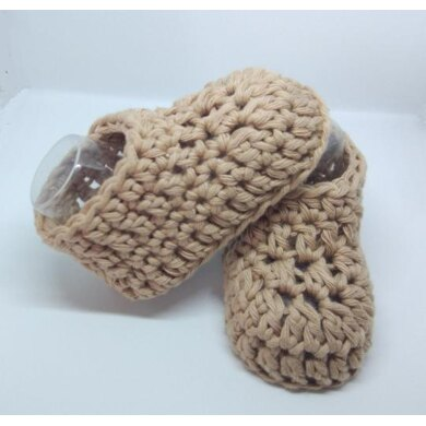 Basic and fast baby booties for beginners