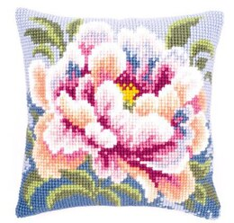 Vervaco Perfect Peony Cushion Front Chunky Cross Stitch Kit