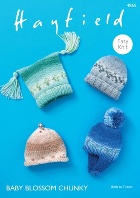 4fc56a0e0 Hats in Hayfield Baby Blossom Chunky - 4865 - Downloadable PDF