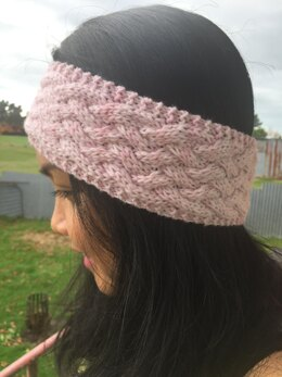 Braided Pink Headband