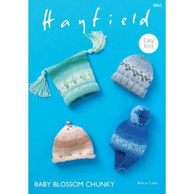 Hats in Hayfield Baby Blossom Chunky - 4865 - Downloadable PDF
