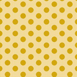 Tilda Medium Dots - Flaxen Yellow