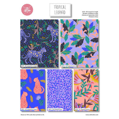 Craft Cotton Company Tropical Leopard Fat Quarter Bundle