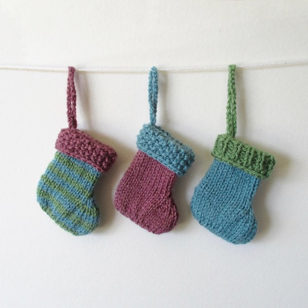 Little Christmas stocking for beginners Knitting pattern by Amanda Berry Kn...