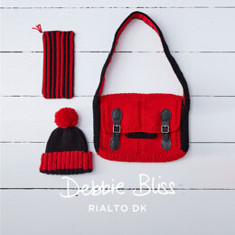 Bobby Satchel, Pencil Case & Hat in Debbie Bliss Rialto DK - DB281 - Downloadable PDF