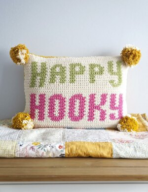 Happy Hooky Cushion