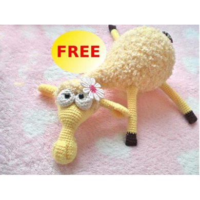 Dolly the sheep Amigurumi fluffy toy