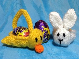 Easter Bunny and Chick Baskets Choc Creme Egg