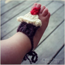 Barefoot Baby Cupcake Sandals