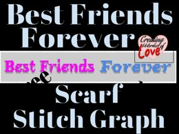 Best Friends Forever C2C Scarf Graph