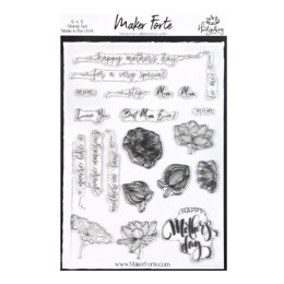 Maker Forte Clear Stamps By Hedgehog Hollow 6in X 8in - Trans Atlantic Mother's Day