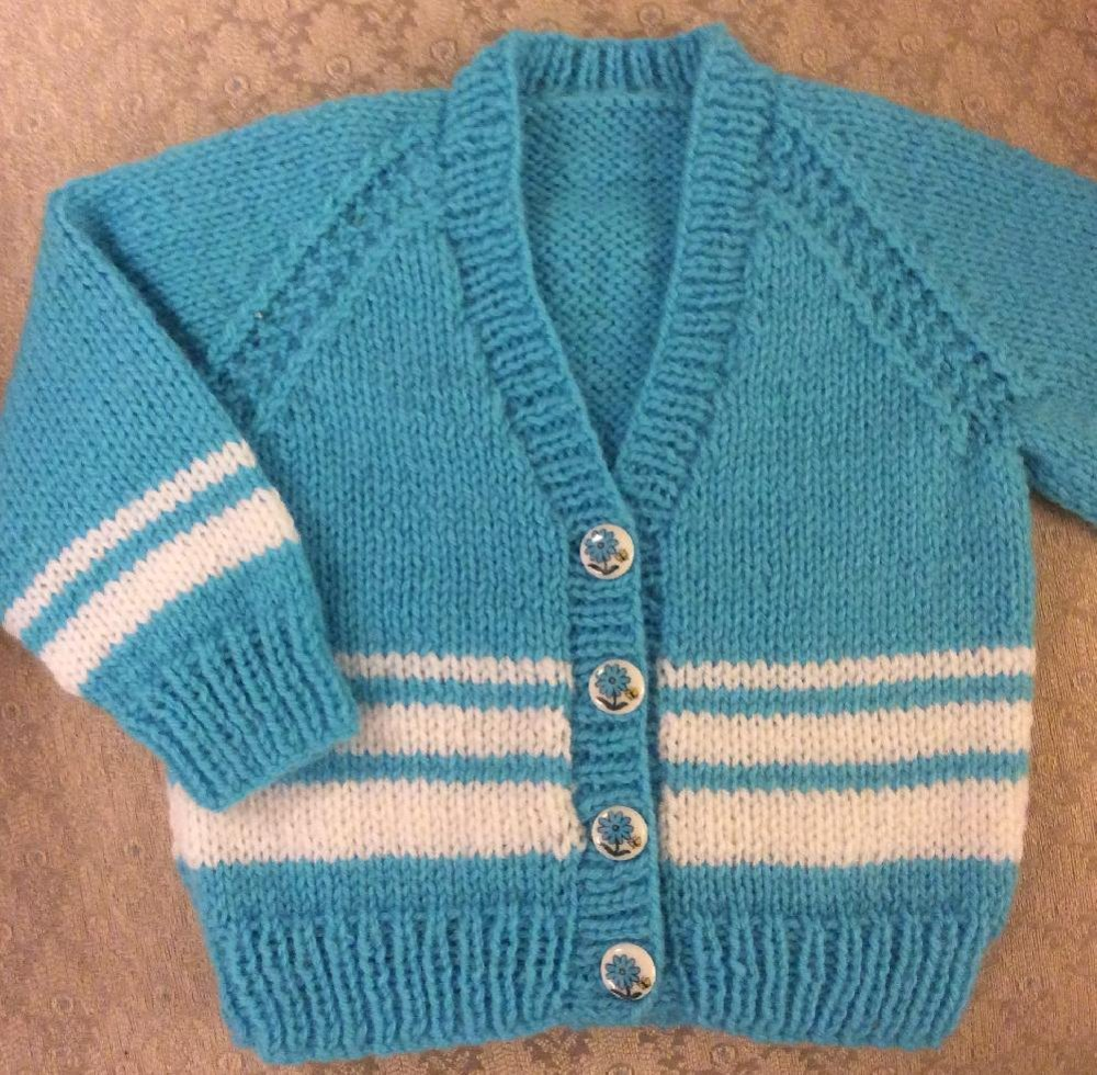 Vee Neck Cardigan In 2 Sizes For A Boy Or Girl Knitting