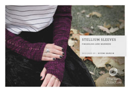 """""""Stellium Sleeves Warmers by Kiyomi Burgin"""" - Free Gloves Knitting Pattern For Women in The Yarn Collective"""