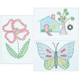 Jack Dempsey Stamped Embroidery Kit Samplers 6in x 8in - Outside Fun (3/Pkg)