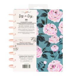 American Crafts Maggie Holmes - Day to Day Dashboard Blue Pink Rose