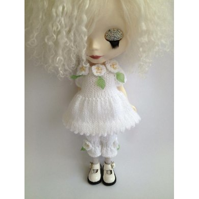 Blooming Lovely Dress and bloomers set for Blythe doll