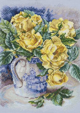 Rto Yellow Roses Cross Stitch Kit