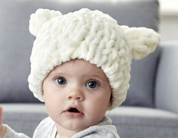 Baby Bear Hat in Bernat Alize Blanket-EZ - Downloadable PDF