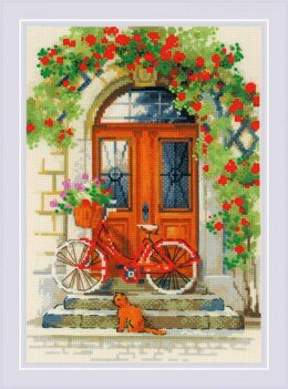 Riolis Italian Door Cross Stitch Kit - 21cm x 30cm