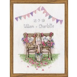 Design Works Wedding Chairs Cross Stitch Kit