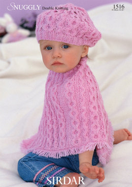 Poncho and Beret in Sirdar Snuggly DK 50g - 1516 - Downloadable PDF