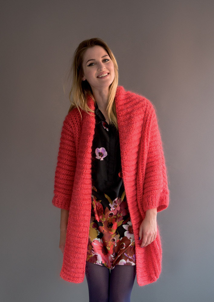 Cardigan in Rico Essentials Mohair - 373 - Downloadable PDF