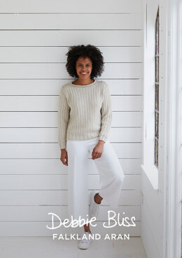 """Brancaster Jumper"" - Jumper Knitting Pattern For Women in Debbie Bliss Falkland Aran - DB262"