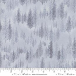 Moda Fabrics Forest Frost Glitter II Winter Metallic Trees Grey