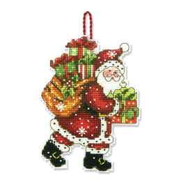 Dimensions Santa with Bag Ornament Cross Stitch Kit