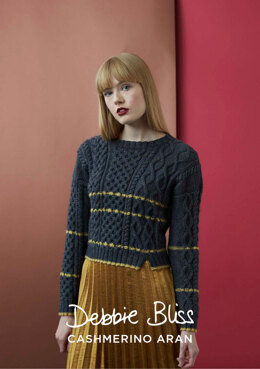 Grete Sweater in Debbie Bliss Cashmerino Aran - DB225 - Downloadable PDF