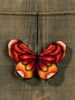 Permin Red Butterfly Cross Stitch Kit