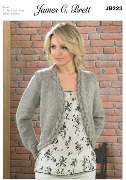 Ladies' Jacket in James C. Brett Aztec Aran - JB223
