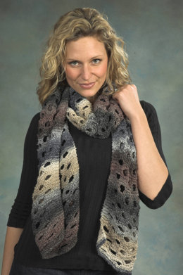 Swiss Cheese Scarf in Plymouth Kudo - F315
