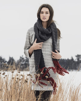 Silver Bay Scarf in Blue Sky Fibers Woolstok - 201616