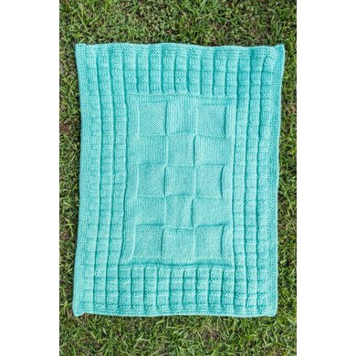 Checkerboard Baby Blanket Knitting Pattern By Sue Mccain