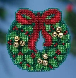 Mill Hill Jingle Bell Wreath Cross Stitch Kit