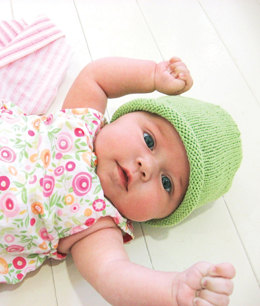 Simple Baby Hat in Blue Sky Fibers Skinny Cotton
