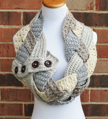 Twisted Textures Braided Cowl Crochet Pattern By Justine Walley