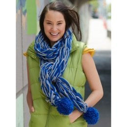 Arm Knit School Spirit Scarf in Bernat Softee Chunky
