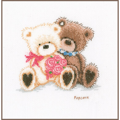 VervacoCounted Cross Stitch Kit Popcorn And Coconut