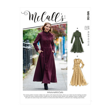 McCall's AstoriaMcCalls - Misses' Coats M8156 - Sewing Pattern