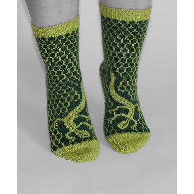 14 sock designs, Patterns in English