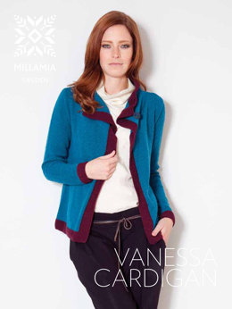 Vanessa Cardigan in MillaMia Merino Wool - Downloadable PDF