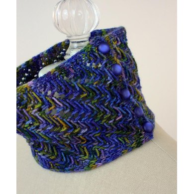 Dappled Knit Lace Neckwarmer