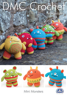 Mini Monsters Toys in DMC Petra Crochet Cotton Perle No. 3 - 15049L/2