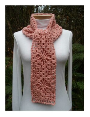 Spider Web Lace Scarf - PA-302 (crochet)