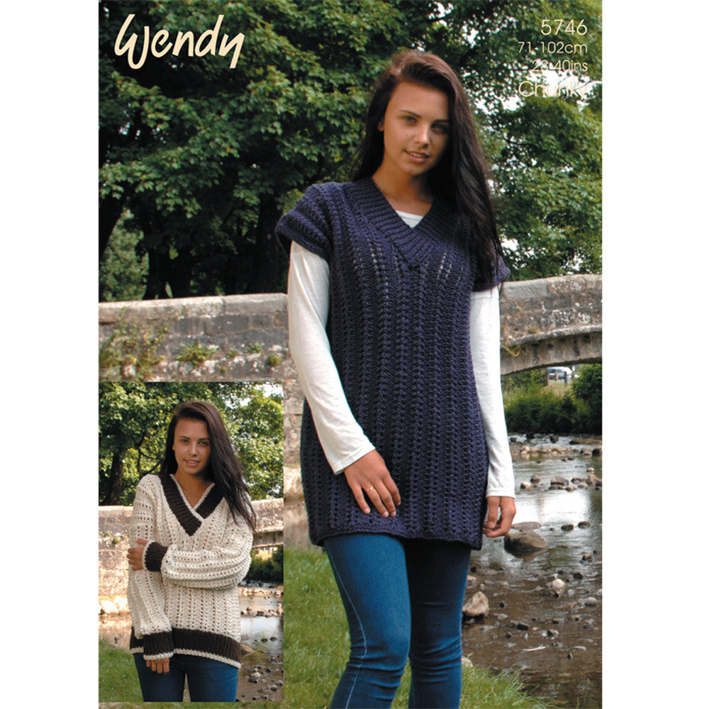 Tunic and v neck sweater in wendy mode chunky and merino chunky zoom bankloansurffo Image collections