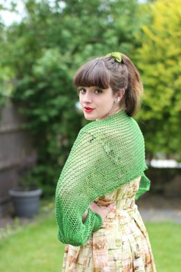 Lost in Music Shrug in Susan Crawford Coquette 4 Ply Vintage Cotton